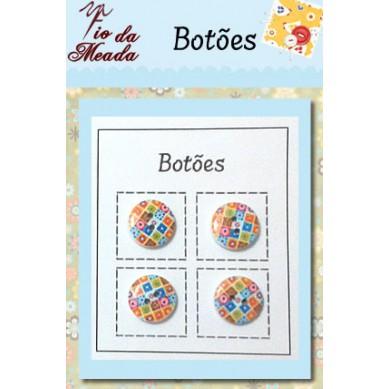 Botões de Madeira Coloridos - 04