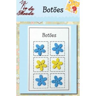 Botões de Madeira Flores - 100