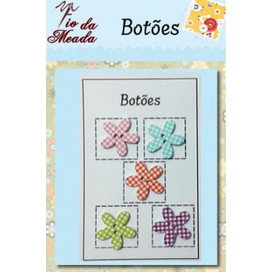 Botões de Madeira Flor - 102