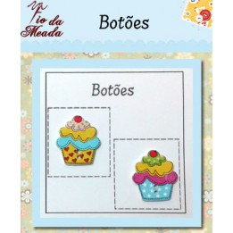 Botões de Madeira Cupcake - 19