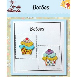 Botões de Madeira Cupcake - 21