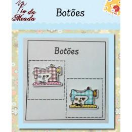 Botões de Madeira Máquina de Costura - 39