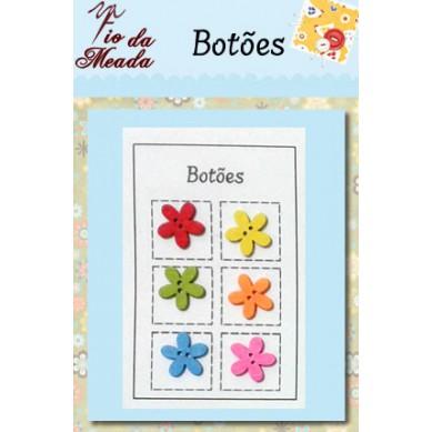 Botões de Madeira Flores - 92