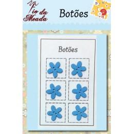 Botões de Madeira Flores - 94
