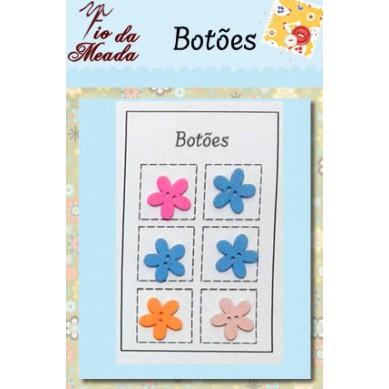 Botões de Madeira Flores - 95