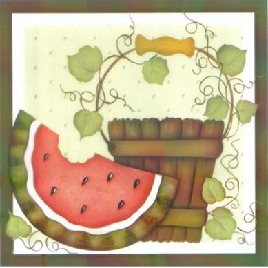 Papel para Arte Francesa 10 x 10 Melancia- 02