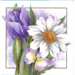 Papel para Arte Francesa 10 x 10 Floral - 06