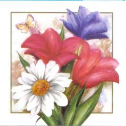 Papel para Arte Francesa 10 x 10 Floral- 07