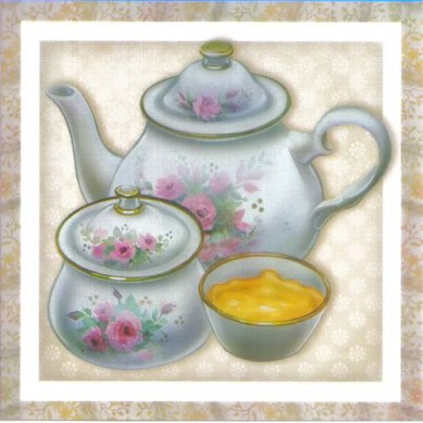 Papel para Arte Francesa 10 x 10 Chá- 09
