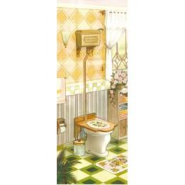 Papel para Arte Francesa Banheiro 1