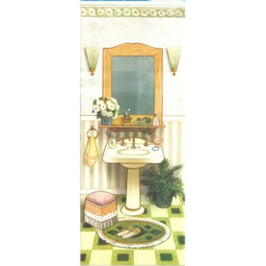 Papel para Arte Francesa Banheiro 2