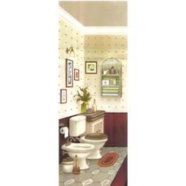 Papel para Arte Francesa Banheiro 3